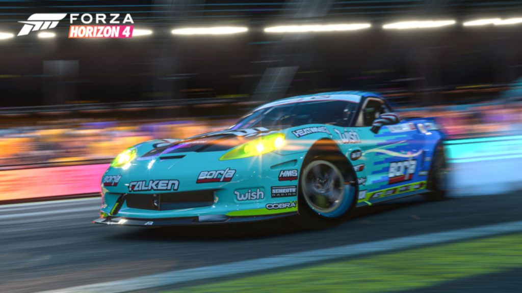 Forza Horizon 4 Series 21 New Cars and Events include the 2013 Formula Drift Corvette 777