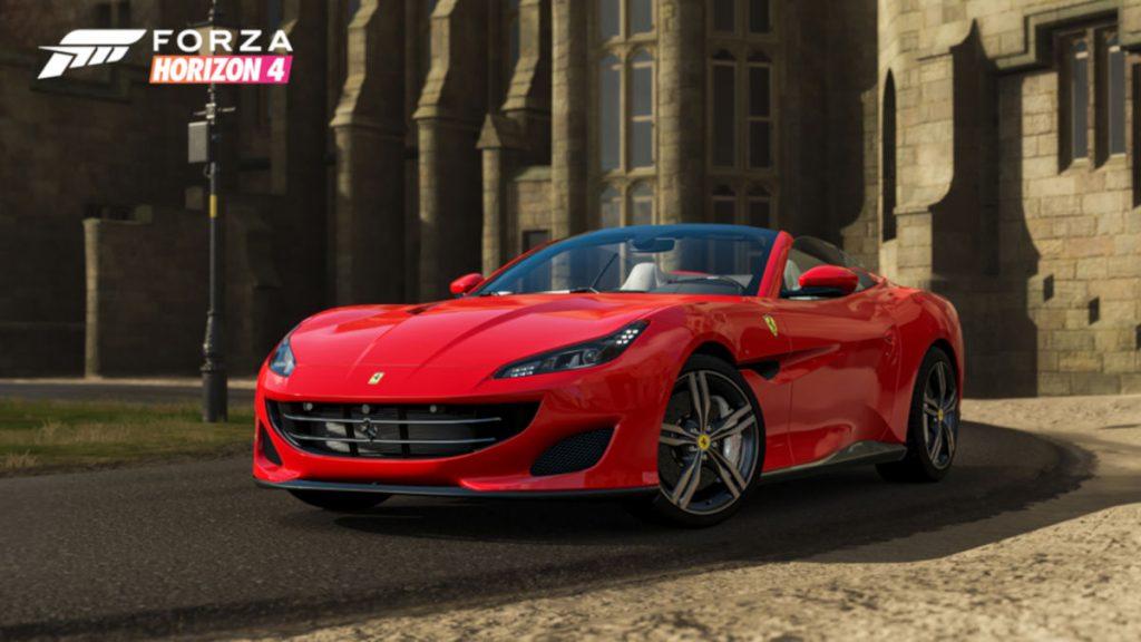 Forza Horizon 4 Series 21 New Cars and Events include the 2018 Ferrari Portofino