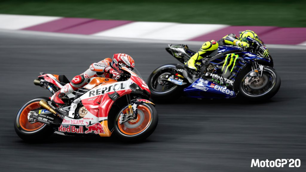 Race as Marquez and Rossi, or against them, with MotoGP 20 released now...