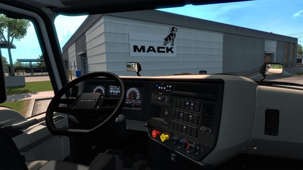 The Mack Anthem interior was designed for drivers, and replicated by a senior designer at SCS Software
