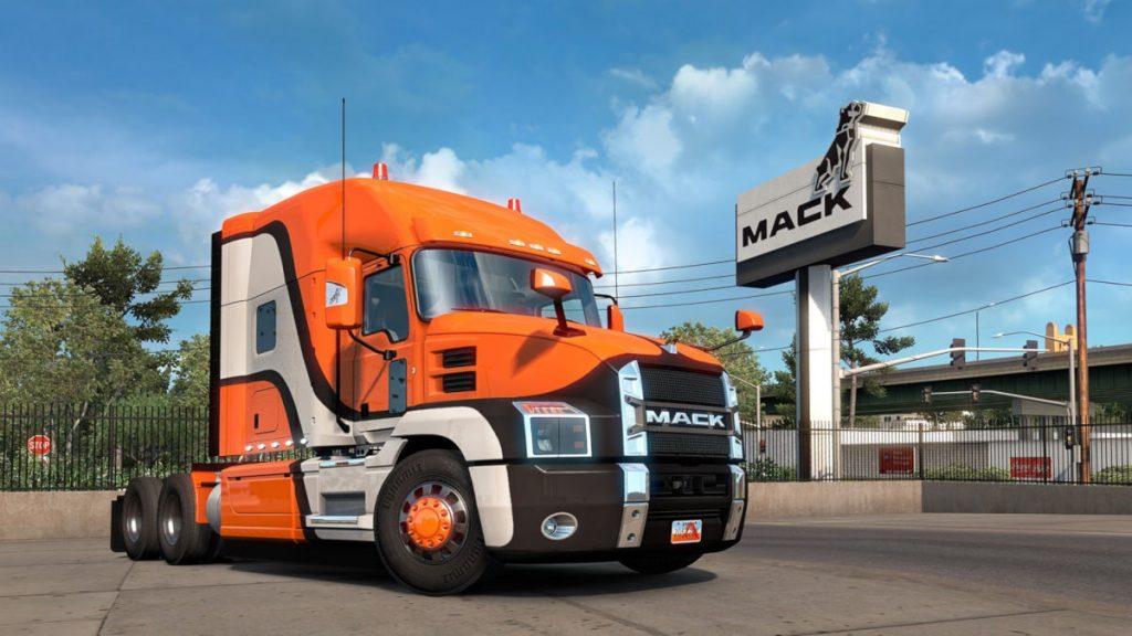 American Truck Simulator adds the Mack Anthem