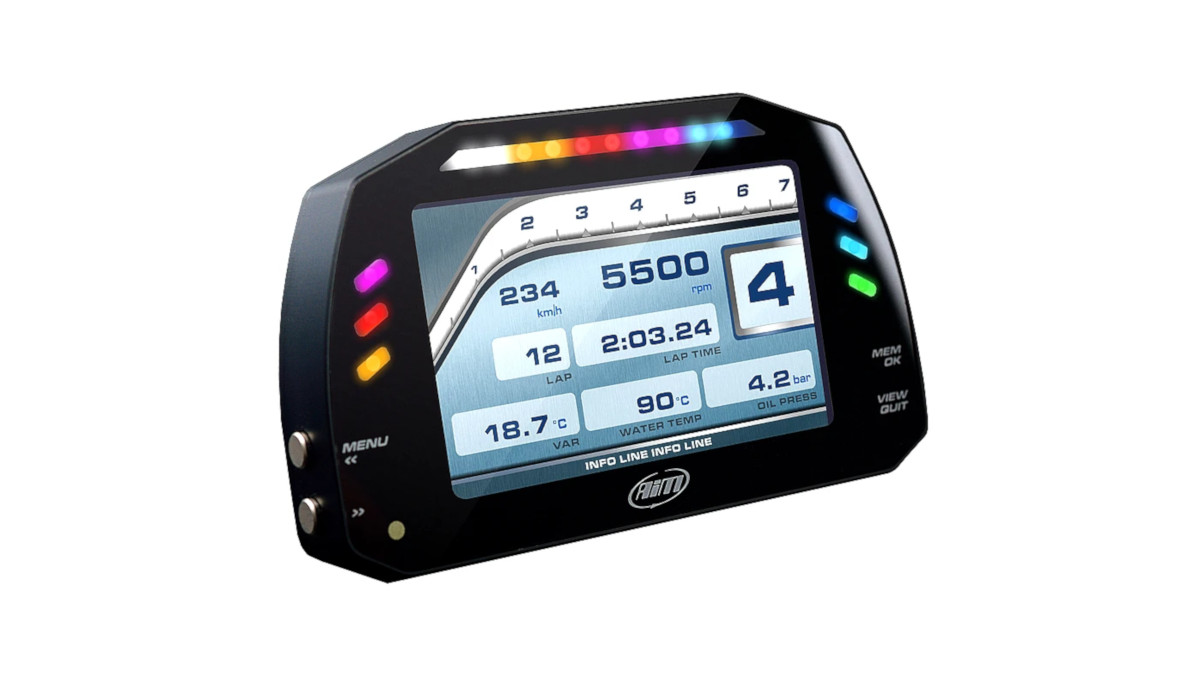 The AiM Technologies MXG 1.2 Strada Sim Racing Display Logger