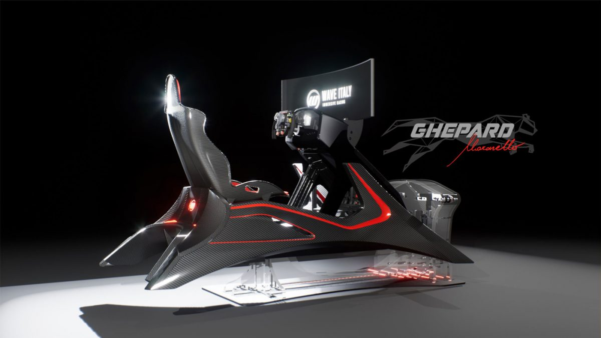The new Wave Italy Ghepard Maranello Pro Sim Rig