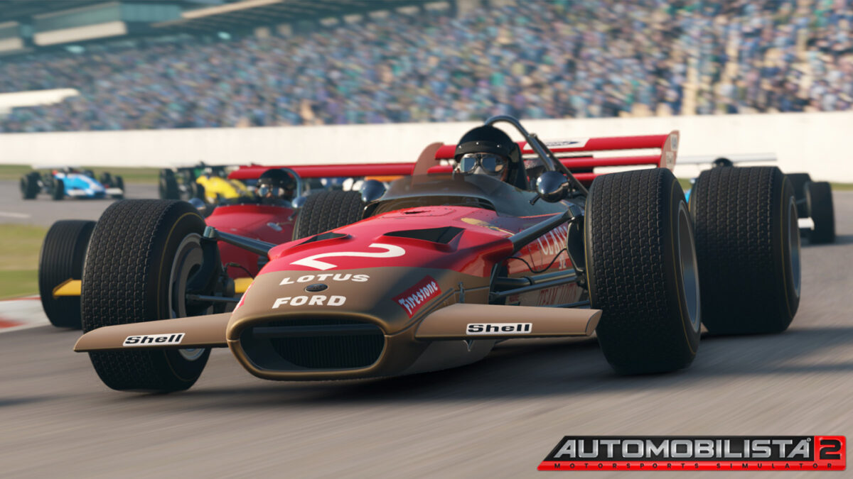 The Lotus 49 C in Automobilista 2, mentioned in the Automobilista 2 July Dev Update