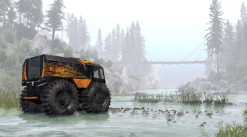 The Spintires SHERP Ural Challenge DLC And Update V1.6.0 are both out now
