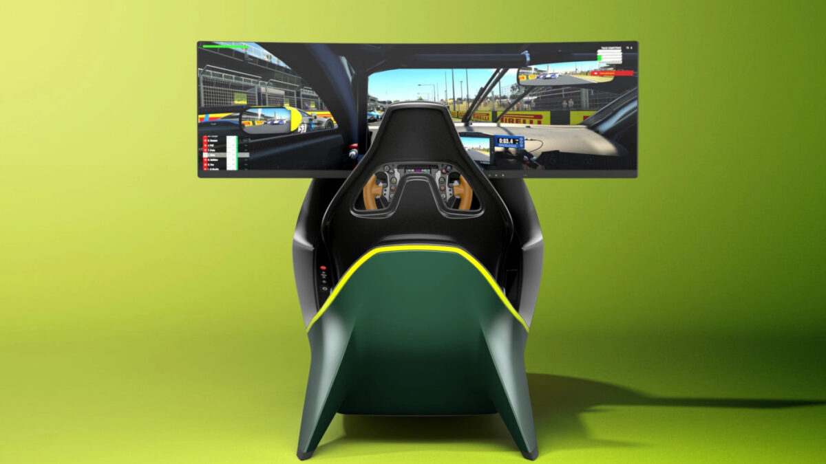 The Aston Martin AMR-C01 sim racing cockpit isn't cheap. But it does look gorgeous
