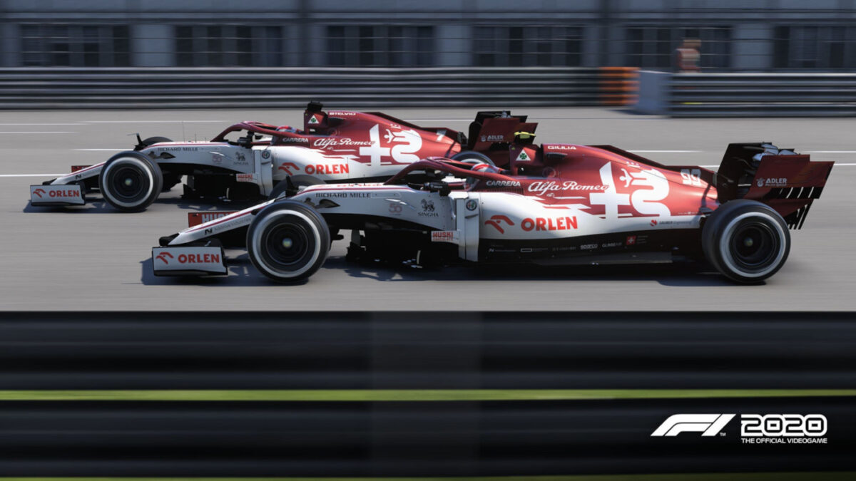 Alfa Romeo are also updated in F1 2020 Patch 1.09