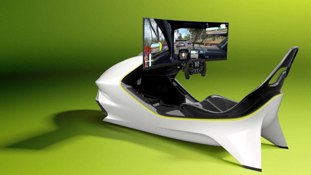 The Aston Martin AMR-C01 sim racing cockpit is definitely stylish