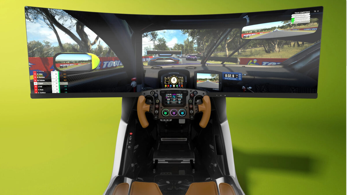 The wheel and pedal set-up looks stunning in the AMR-C01