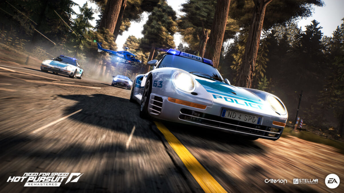 The police get access to the same supercars as the racers in Need for Speed Hot Pursuit Remastered