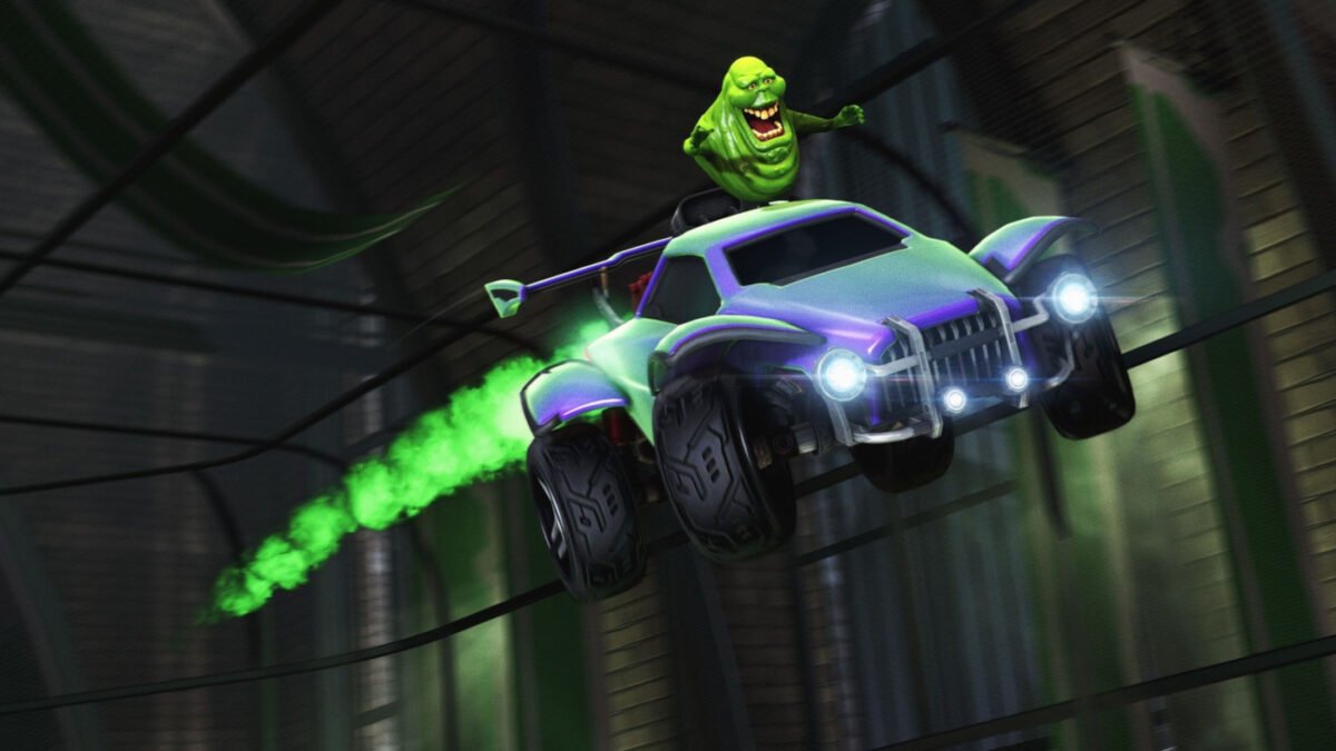 The Slimer Topper from the Rocket League Haunted Hallows 2020 event