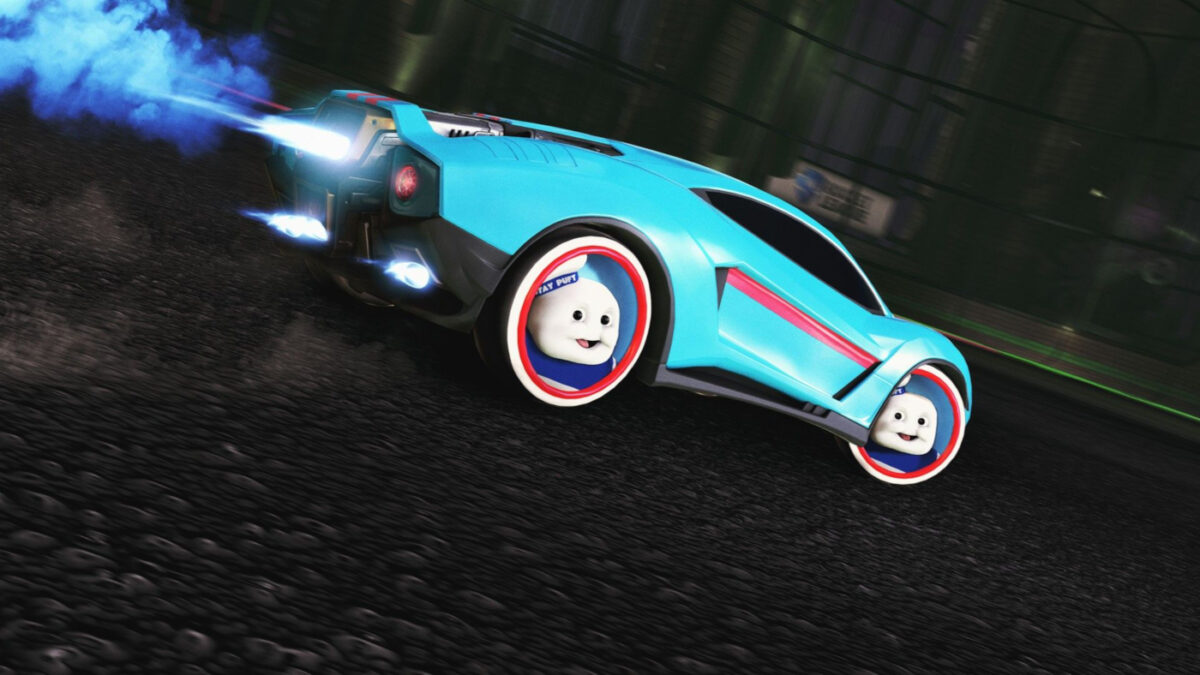 Fancy some Stay Puft wheels on your Rocket League car?