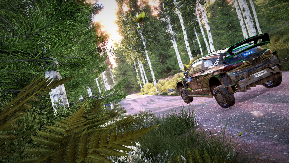The new free WRC 9 update adds Rally Finland special stages