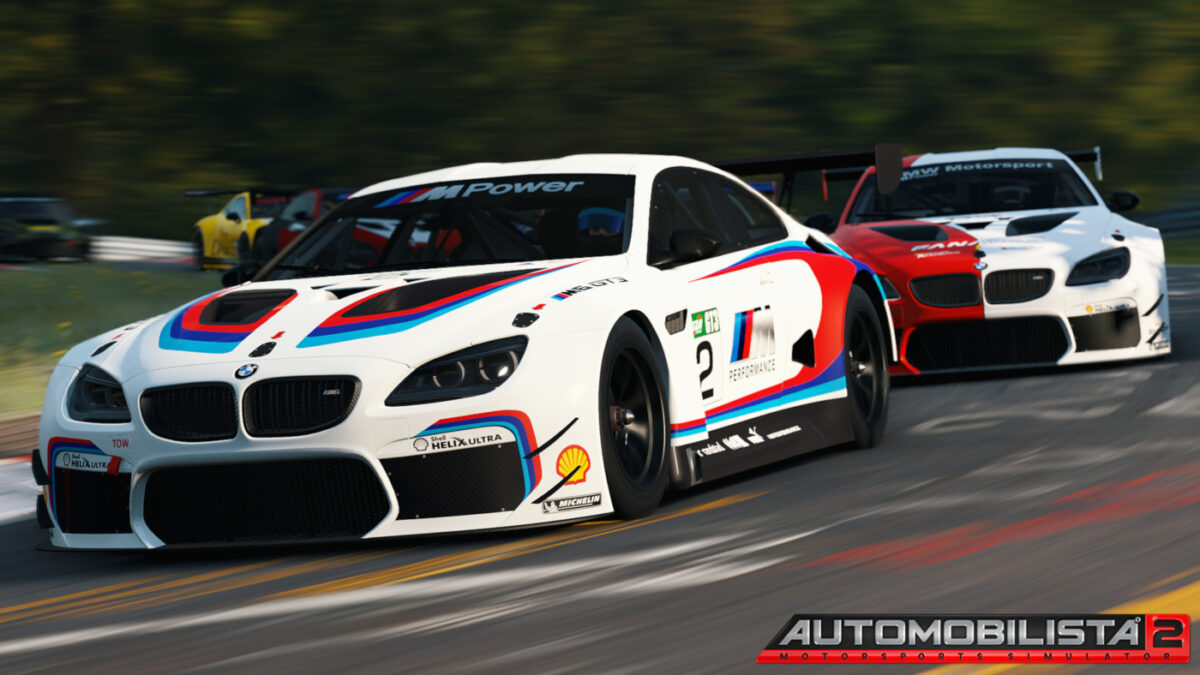 Automobilista 2 V1.0.6 adds new GT3 and GT4 cars, including the BMW M6 GT3