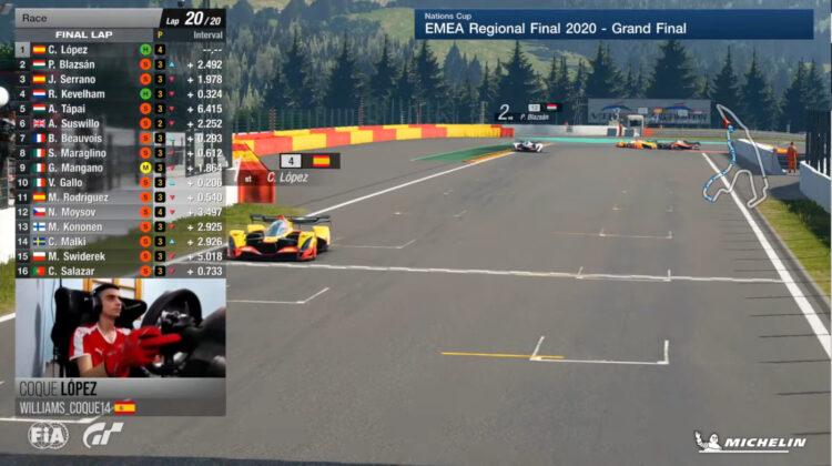 Coque Lopez Wins The 2020 FIA Gran Turismo Championship EMEA Final