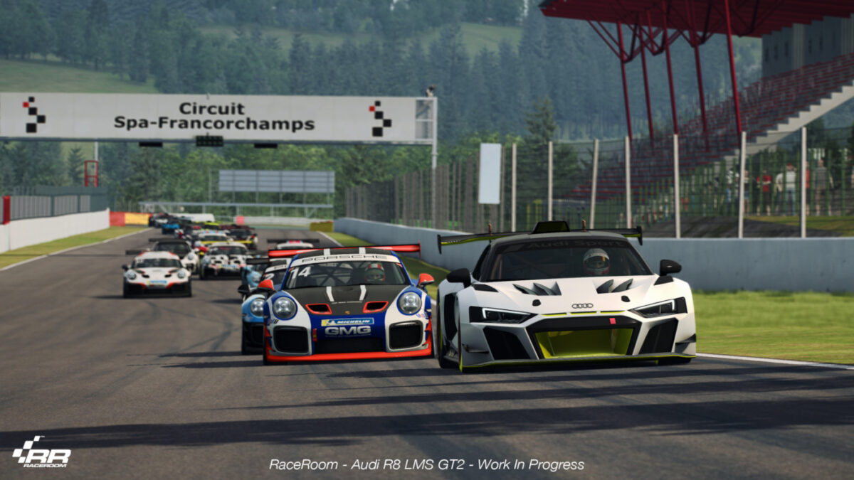 The Audi R8 LMS GT2 will be up against the Porsche 911 GT2 RS Clubsport