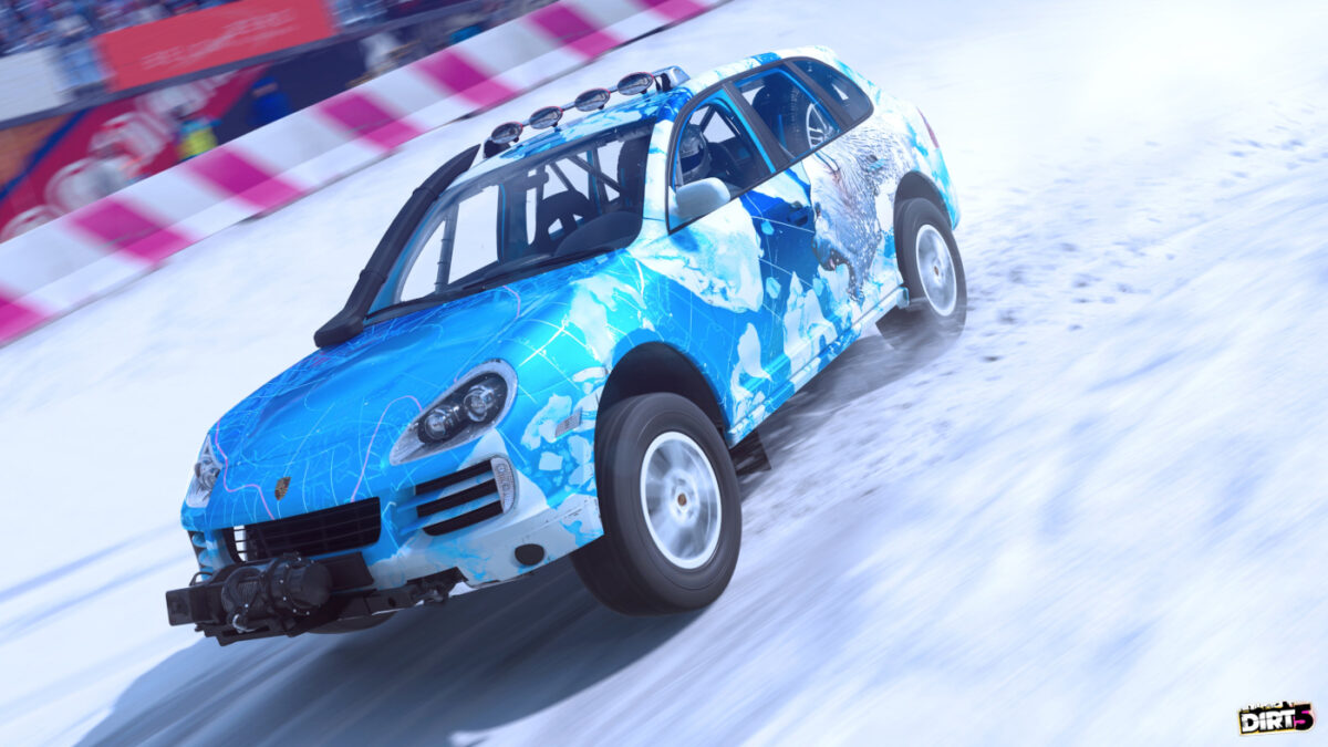 The Snow Limits content pack includes liveries for the Porsche Cayenne Transsyberia and Ford Mustang