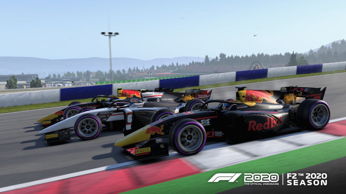 The free F1 2020 Update 1.14 adds the 2020 F2 Season, including the Carlin team