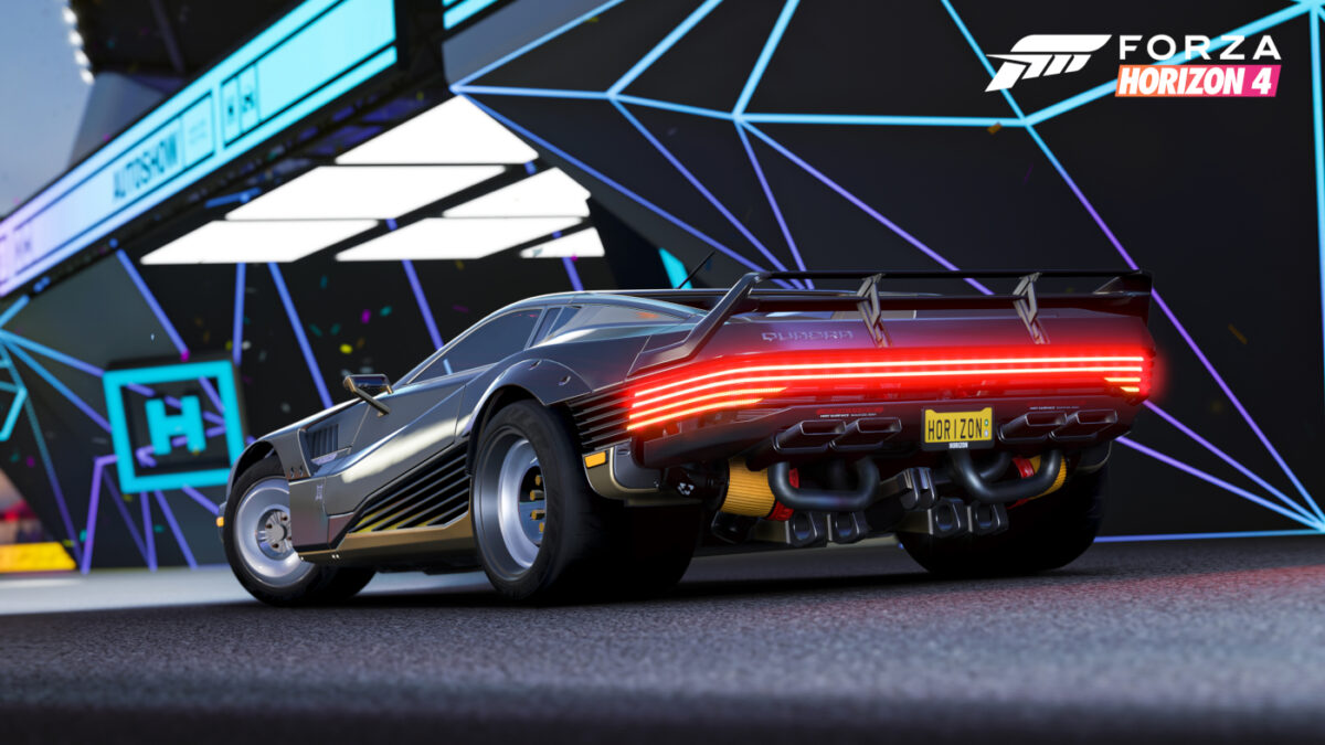 Forza Horizon 4 adds the Cyberpunk 2077 Quadra Turbo-R V-Tech