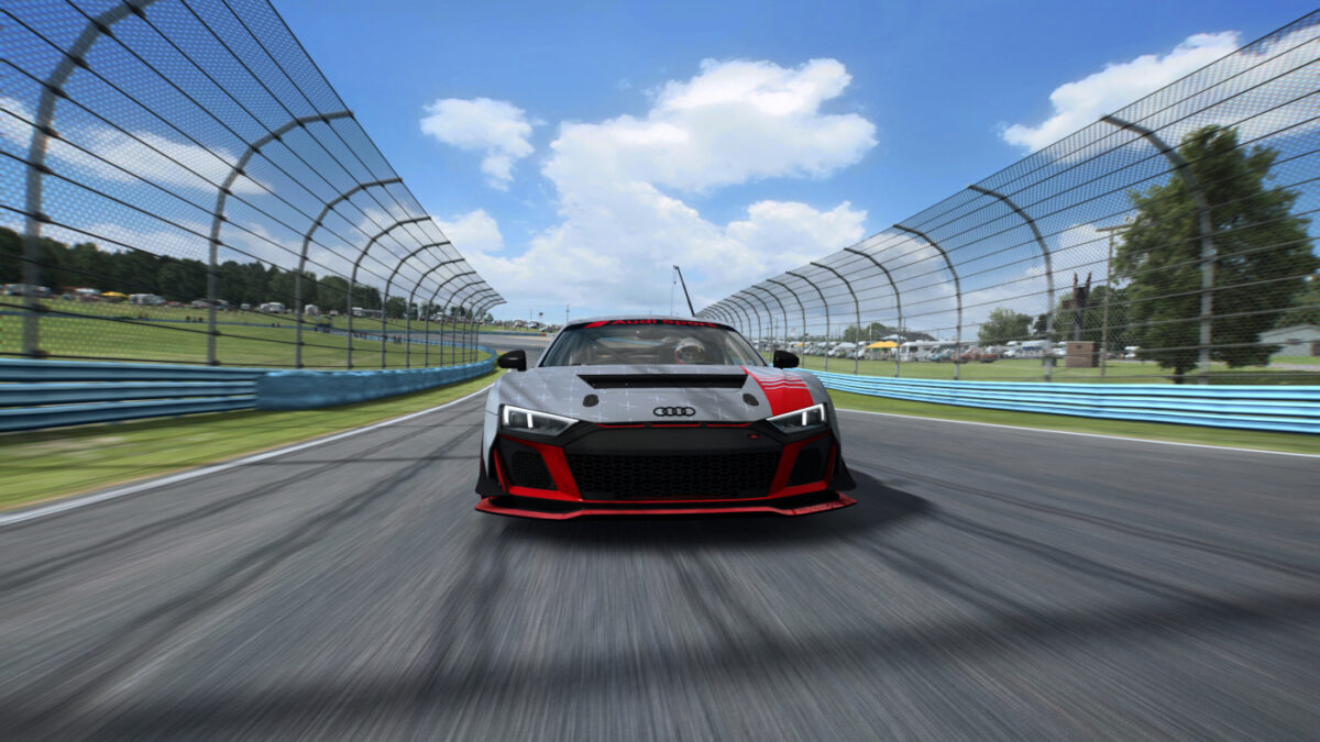 The Audi R8 LMS GT4 should be a good option for driving in the GTR4 class in RaceRoom