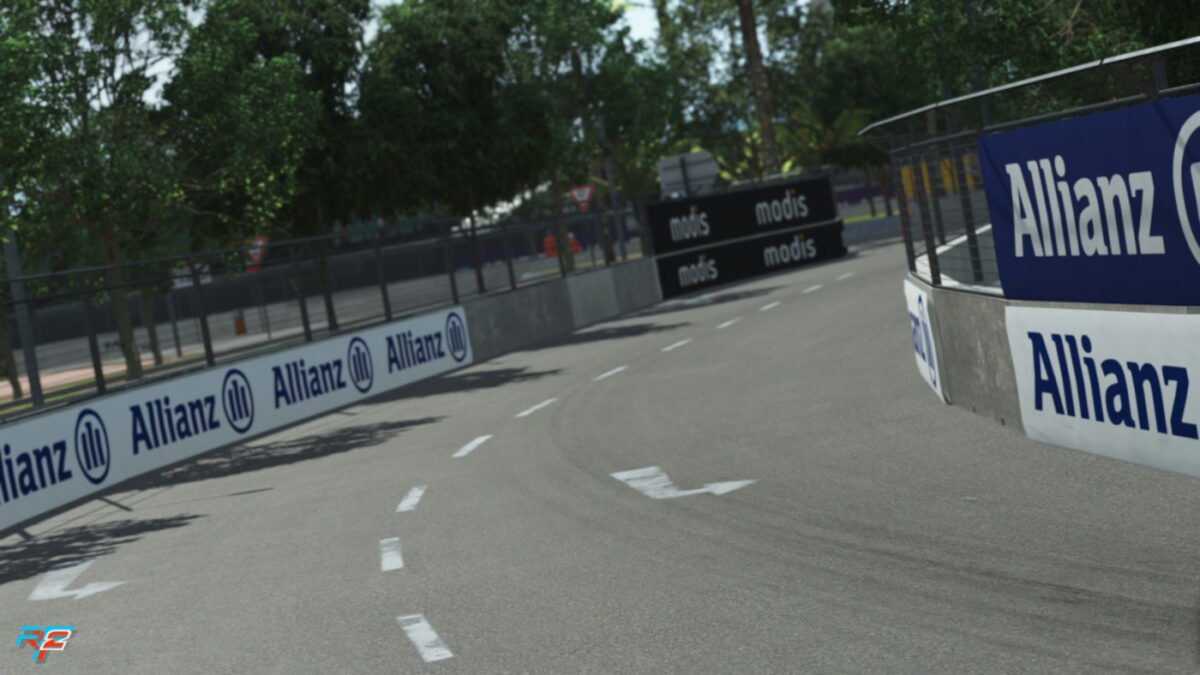 Less issues racing at the Hong Kong E-Prix circuit in rFactor 2 with the latest update