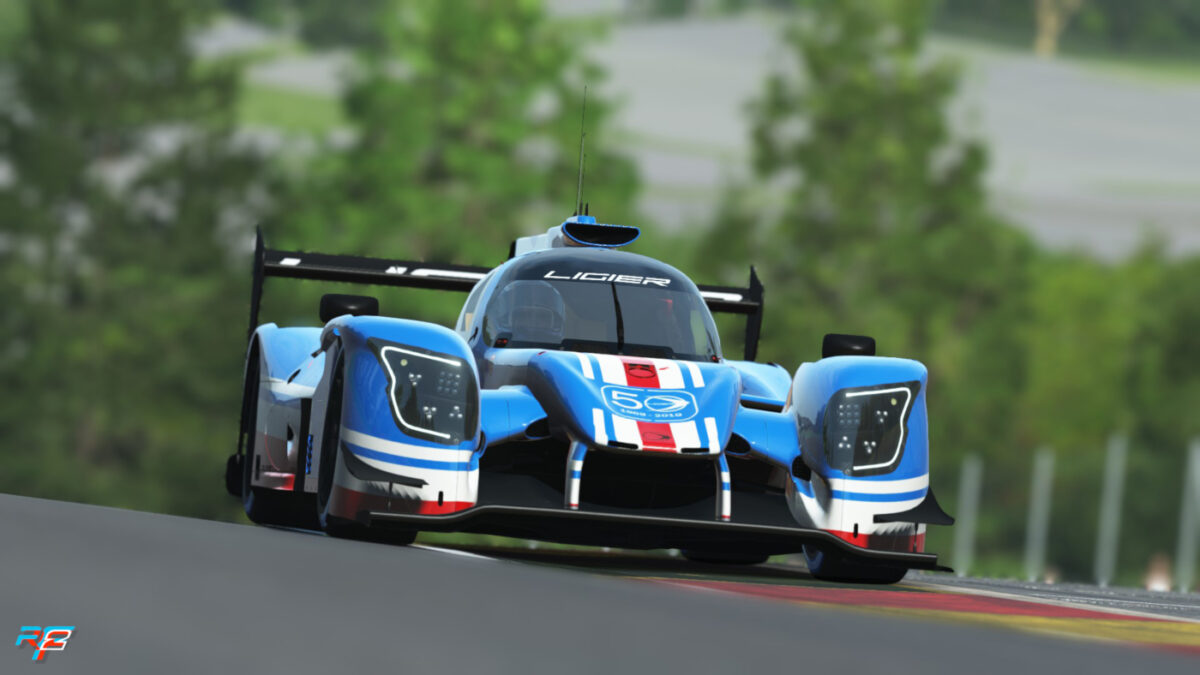 The rFactor 2 Ligier JS P217 LMP2 is part of the new Endurance Pack 2 DLC