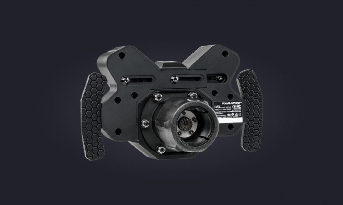 The rear of the Fanatec CSL Universal Hub, showing the quick release system