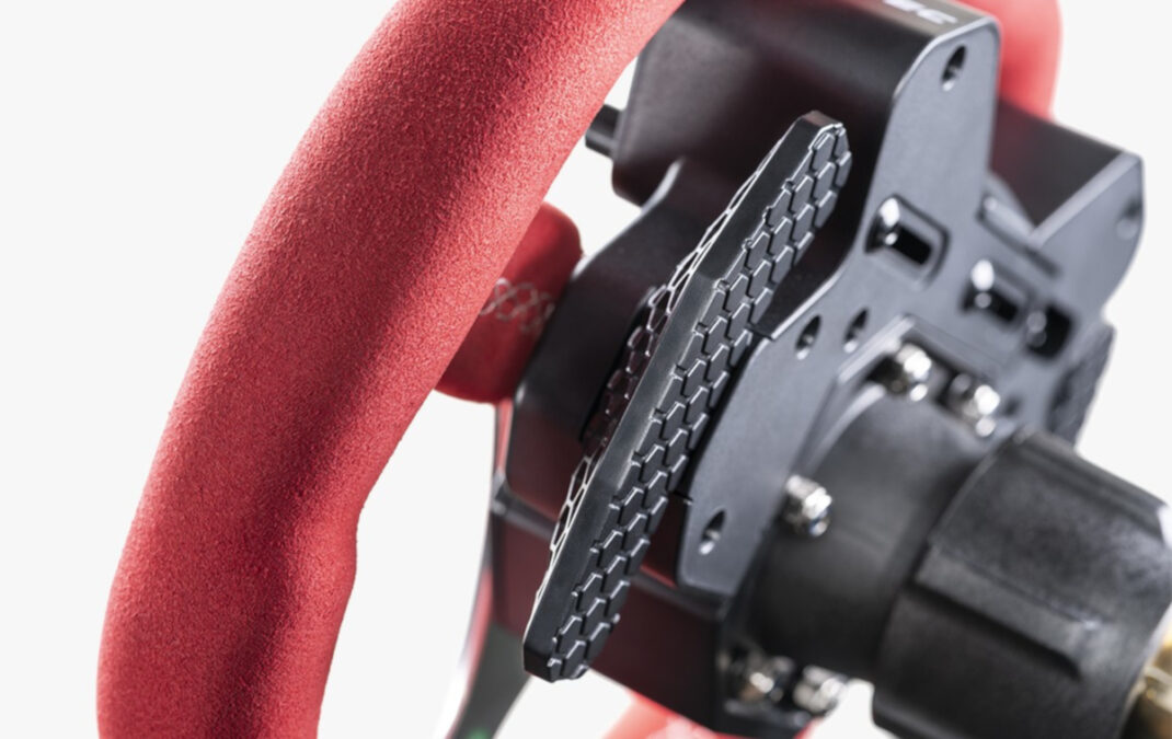 The snap-dome shifters have a honeycomb finish. Presumably for grip, but it also looks nice..