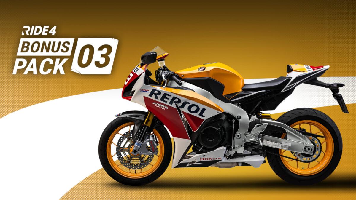 Get the 2015 Honda Fireblade CBR1000RR SP for free in the RIDE 4 Bonus Pack 03
