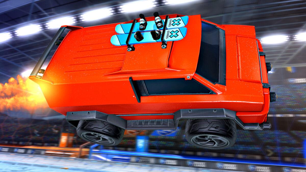 The Rocket League X Games Aspen 2021 X-Boards Topper