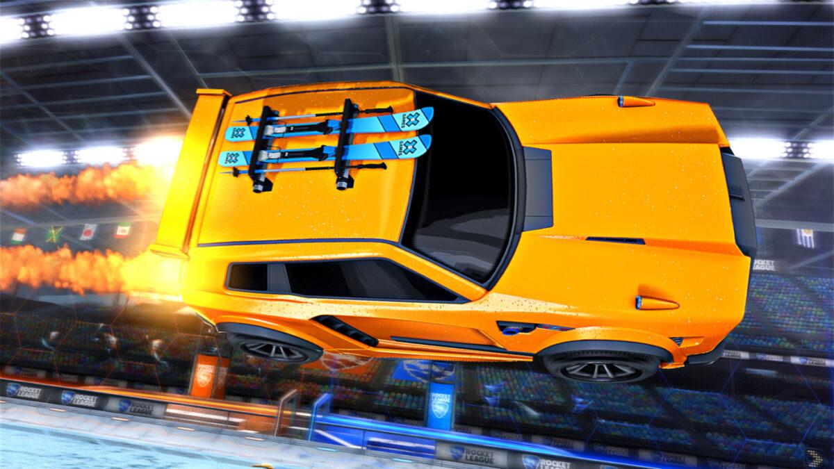 The Rocket League X Games Aspen 2021 X-Skis Topper