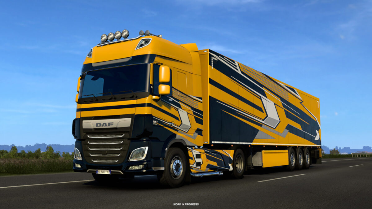 Two Super Stripes Paint Jobs Pack designs can now also be applied to your trailers...