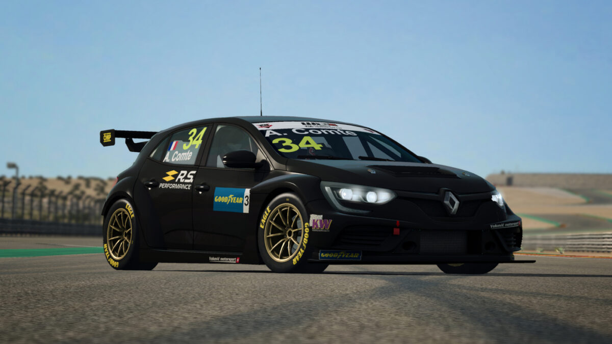 The WTCR 2020 Renault Megane RS TCR in RaceRoom