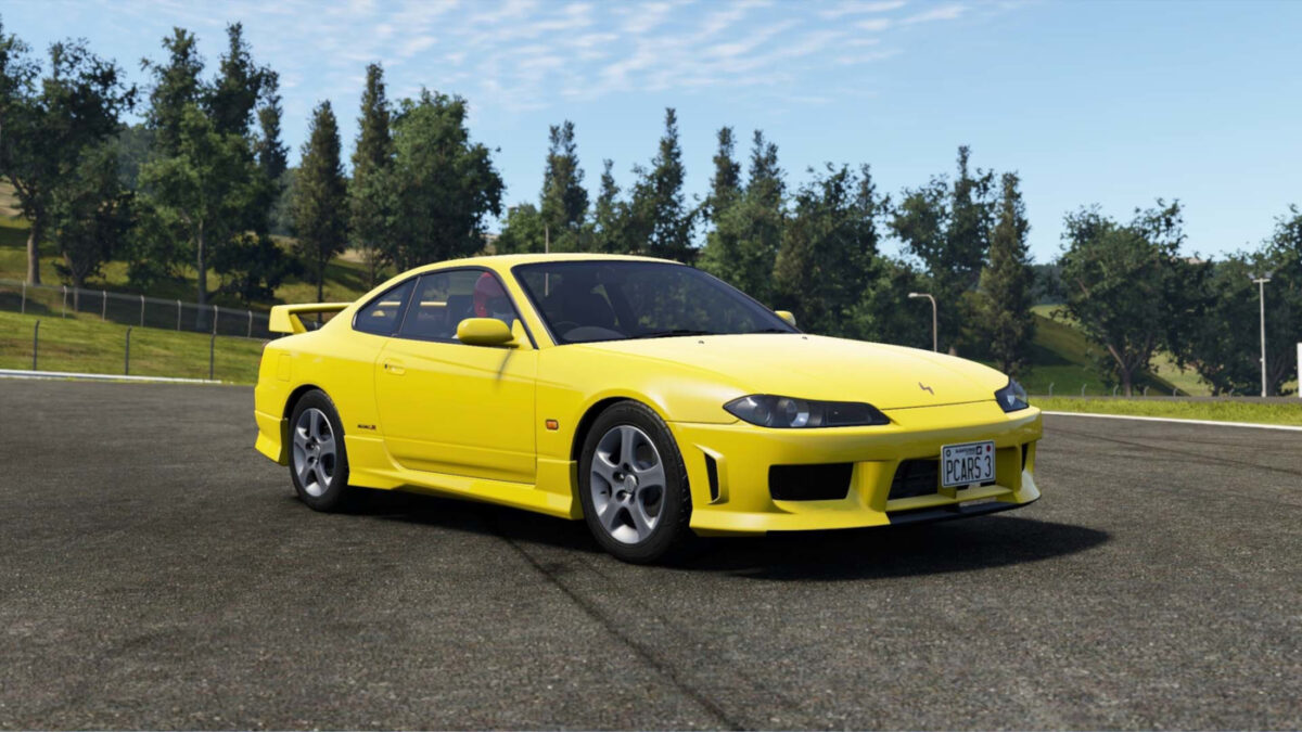 The 2002 Nissan Silvia S14 Spec R Aero and Racing Conversion in Project CARS 3 Power Pack DLC