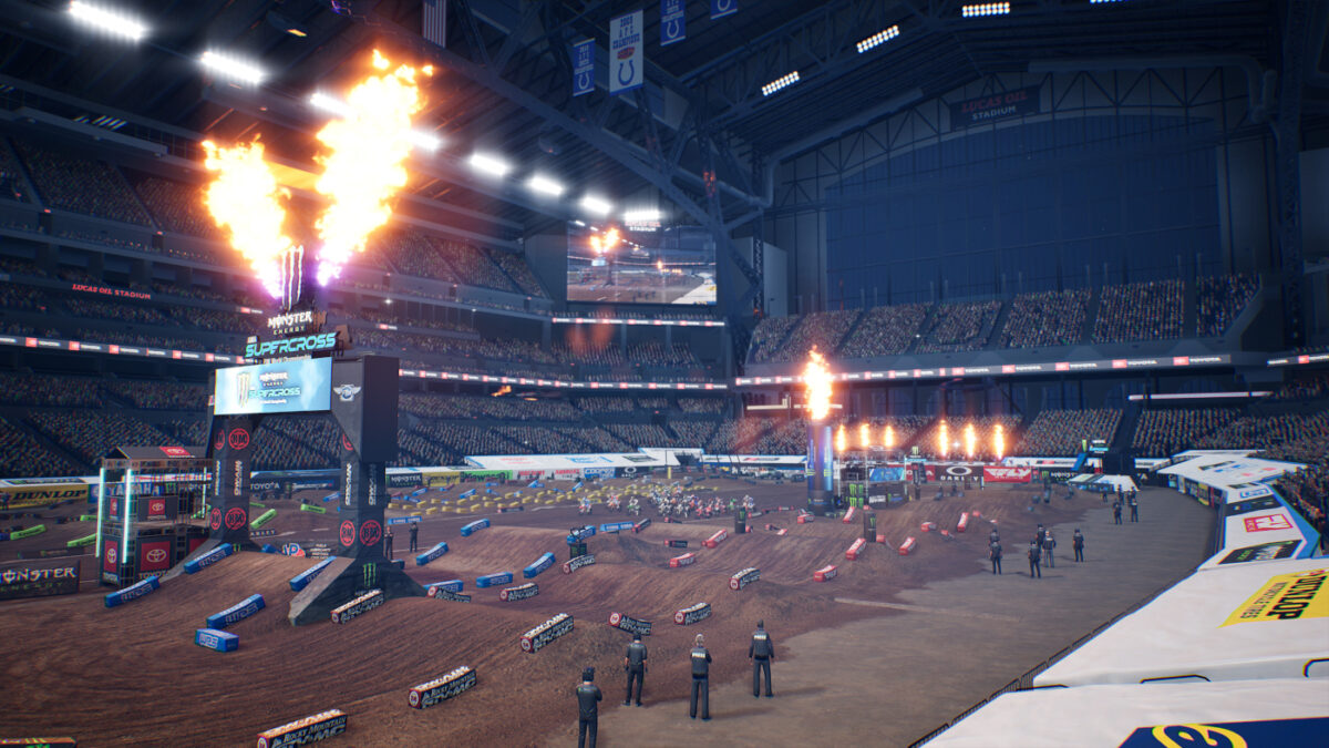 The 2020 Indianapolis Track is part of the Monster Energy Supercross 4 2Stroke Bikes Pack