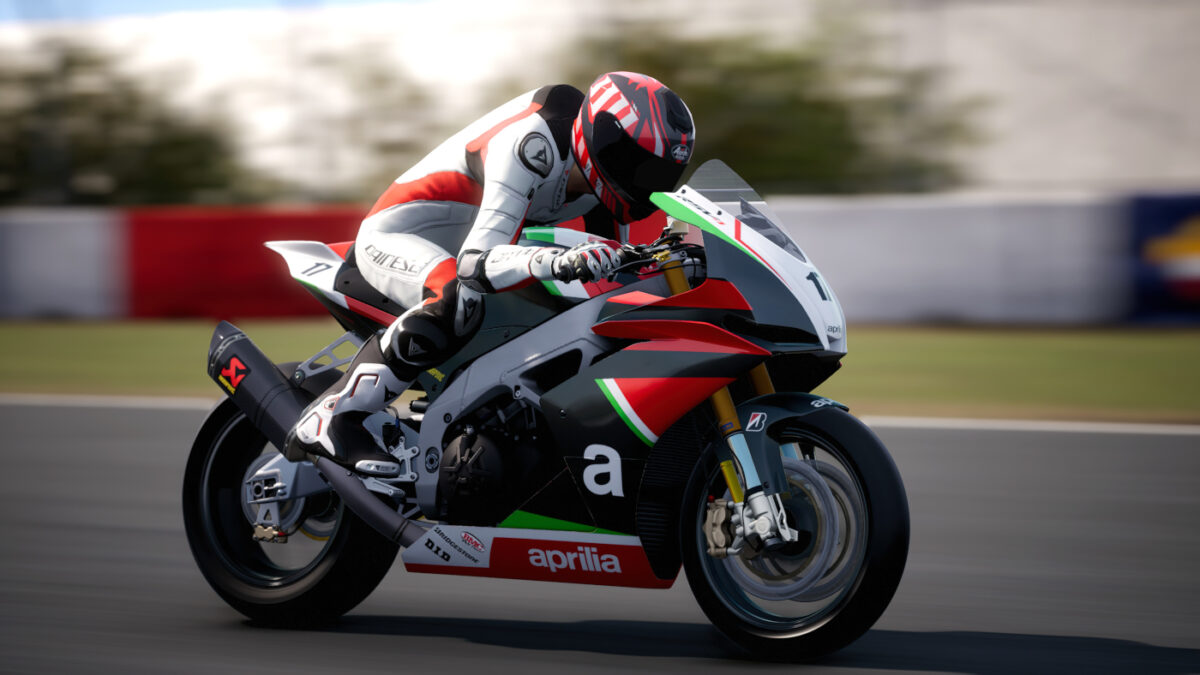 The 2018 Aprilia RSV4 RF Racing Modified is one of the bikes in the Extreme Performance DLC for RIDE 4