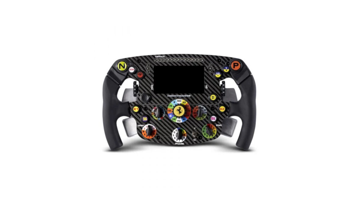 The new Thrustmaster Formula Wheel Ferrari SF1000 Edition has 21 LEDs, and up to 25 buttons and encoders