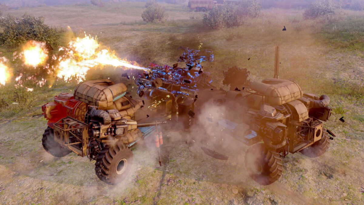 Destroy other vehicles, or get yourself blown up...