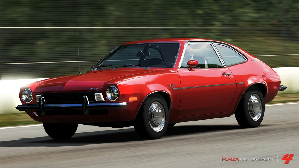 The Forza Motorsport 4 January Jalopnik Car Pack includes the 1973 Ford Pinto