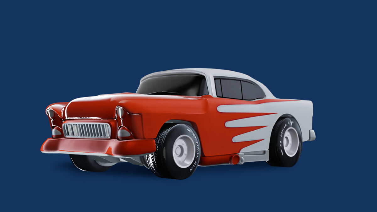 A classic '55 Chevy is one of the cars revealed with the new Hot Wheels Unleashed Diecast trailer
