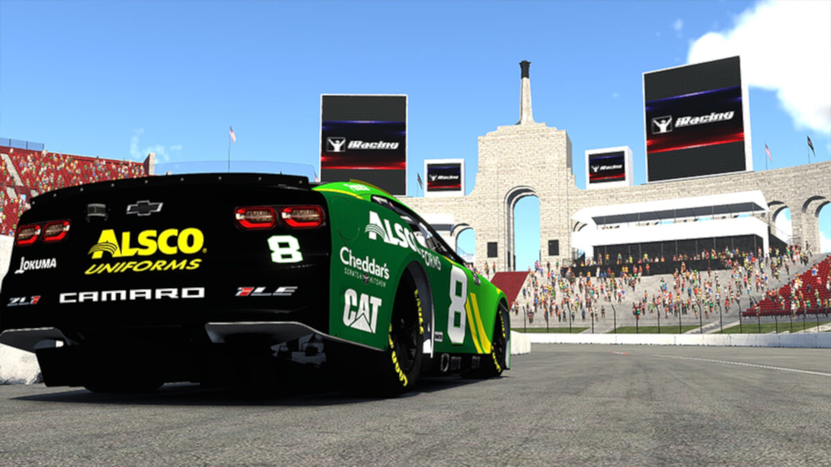 iRacing will add the Los Angeles Coliseum For 2022