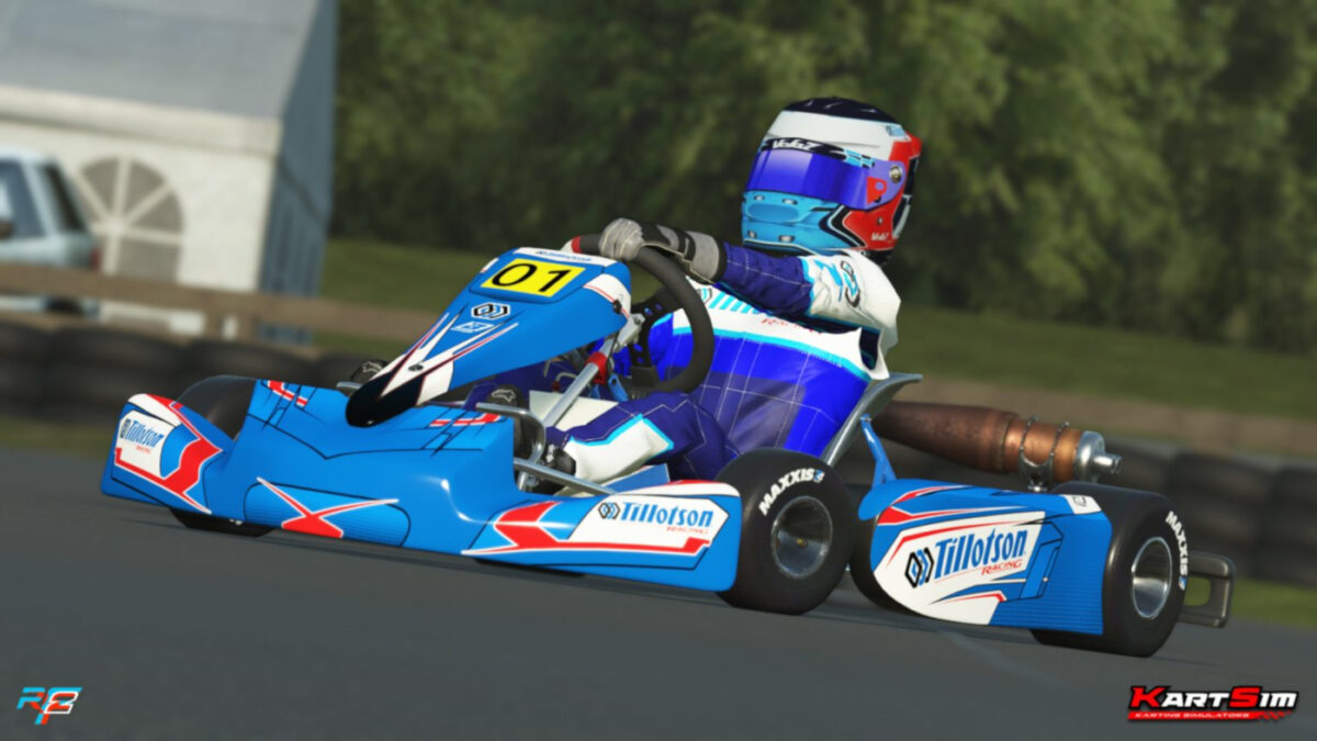 The rFactor 2 KartSim Tillotson T4 Series Kart Released